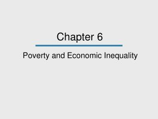 Poverty and Economic Inequality
