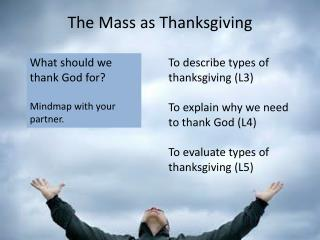 The Mass as Thanksgiving