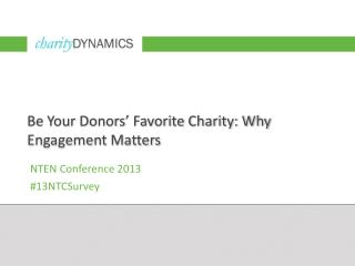 Be Your Donors' Favorite Charity: Why Engagement Matters