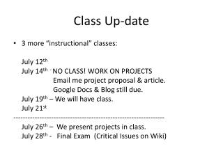 Class Up-date