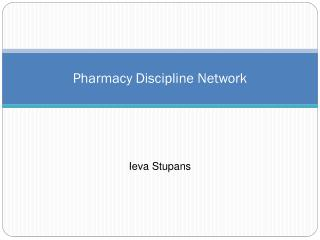 Pharmacy Discipline Network