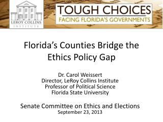 Florida's Counties Bridge the Ethics Policy Gap