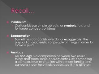 Recall…