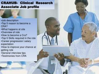 CRAHUB-  Clinical  Research Associate Job profile