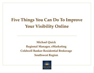 Five Things You Can Do To Improve Your Visibility Online