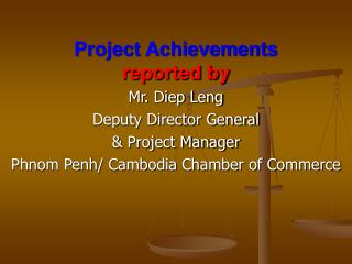 Project Achievements reported by