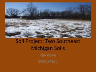 Soil Project: Two Southeast Michigan Soils