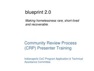 Community Review Process (CRP) Presenter  Training