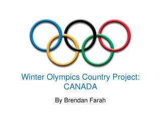 Winter Olympics Country Project: CANADA