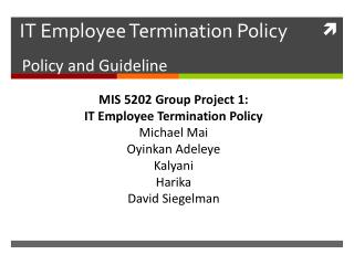 IT Employee Termination Policy