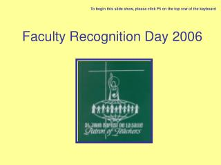 Faculty Recognition Day 2006