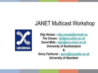 JANET Multicast Workshop
