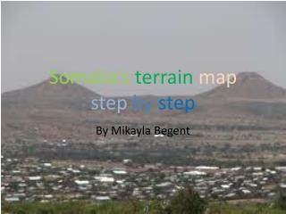 Somalia's terrain map step by step