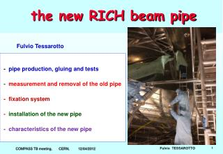 the new RICH beam pipe