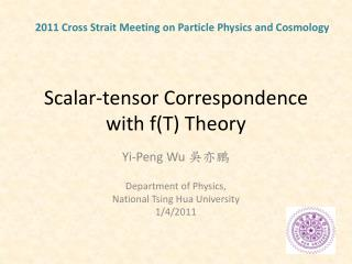 Scalar-tensor Correspondence with f(T) Theory