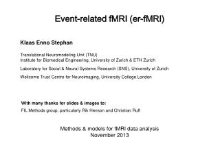 Event-related fMRI (er-fMRI)