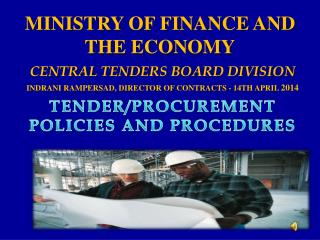 MINISTRY OF FINANCE AND THE ECONOMY