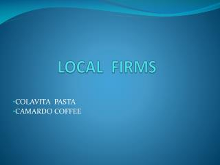LOCAL  FIRMS