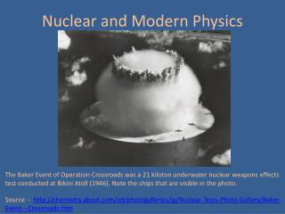 Nuclear and Modern Physics