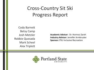 Cross-Country Sit Ski Progress Report