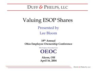 Valuing ESOP Shares