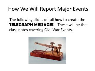 How We Will Report Major Events