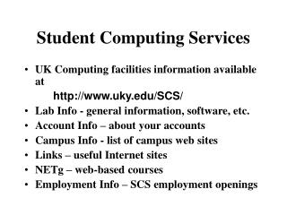 Student Computing Services