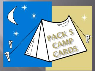Pack 5 Camp Cards