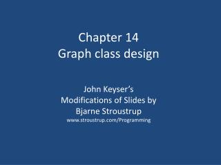Chapter 14 Graph class design