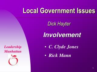 Local Government Issues Dick Hayter