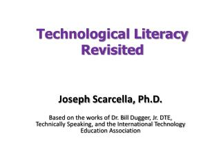 Technological Literacy Revisited