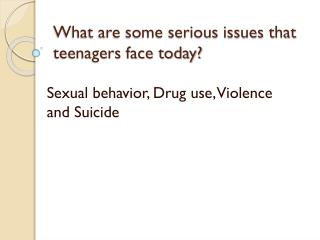 the challenges of sex drugs obesity and violence kids today face Substance misuse, mental health problems and domestic violence are commonly associated with child protection involvement and are described as key risk factors for.