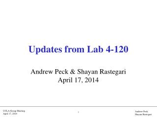 Updates from Lab 4-120