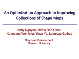 An Optimization Approach to Improving Collections of Shape Maps