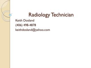 Radiology Technician