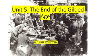 Unit 5: The End of the Gilded Age