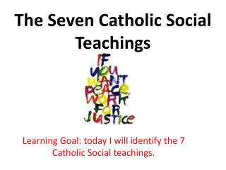 The Seven Catholic Social Teachings