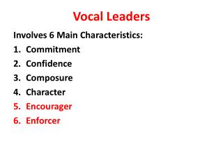 Vocal Leaders