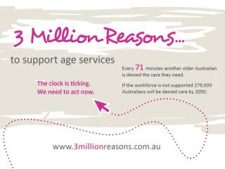 Did you know there are currently 3 million people  aged over 65  in Australia?