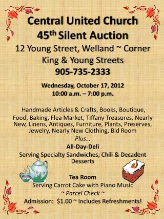 Wednesday , October  17, 2012 10:00 a.m. – 7:00 p.m.