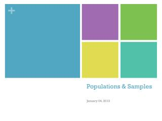 Populations & Samples