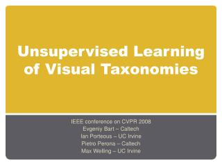 Unsupervised Learning of Visual Taxonomies