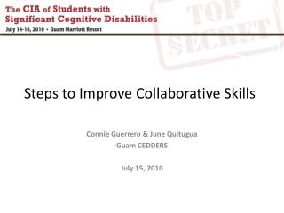 Steps to Improve Collaborative Skills