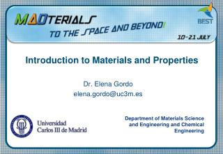 Introduction to  Materials and Properties