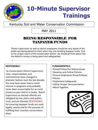 10-Minute Supervisor Trainings