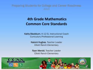4th Grade Mathematics Common Core Standards