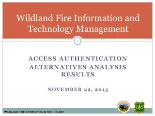 Wildland Fire Information and Technology Management