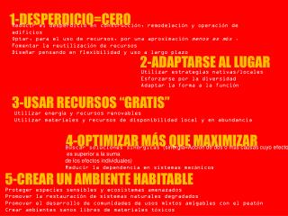 1-DESPERDICIO=CERO
