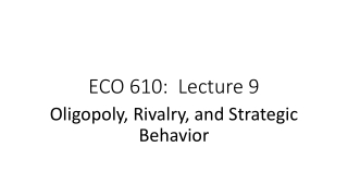ECO 610: Lecture 9
