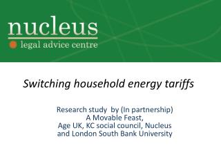 Switching household energy tariffs